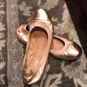 Coach Gold Flat Dance Style shoe size 5.5 B